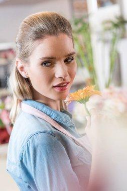 beautiful young florist