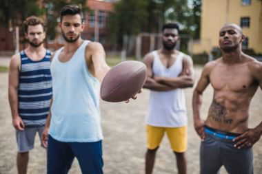 multicultural football players