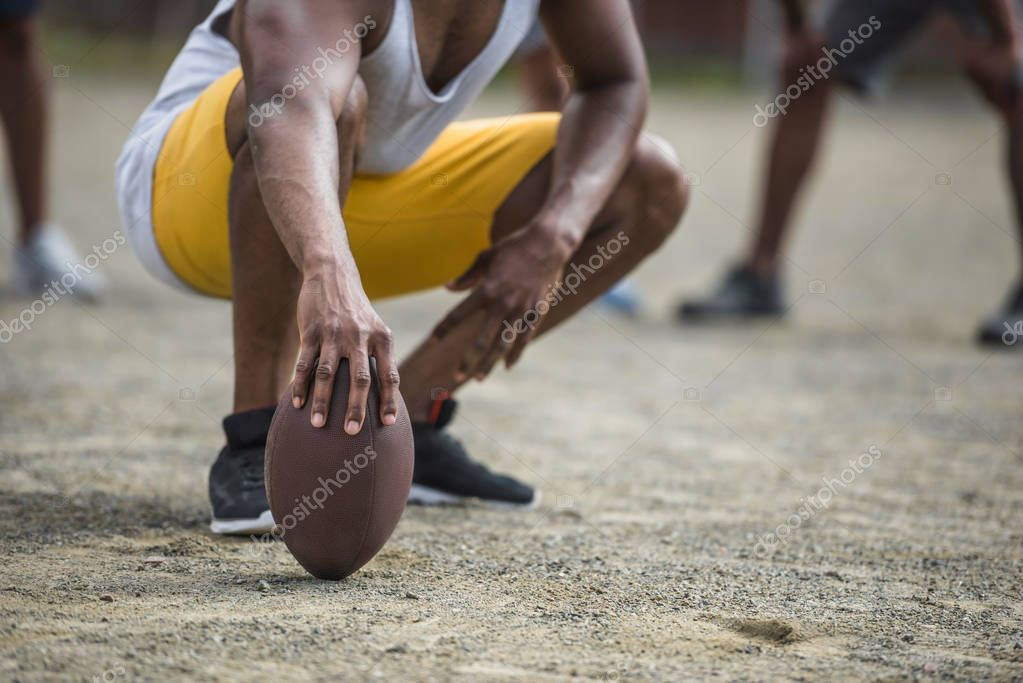 young man with ball