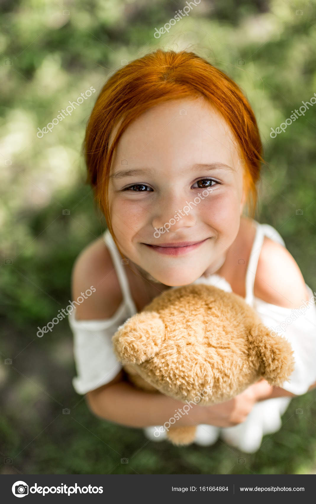 redhead girl with teddy bear porn