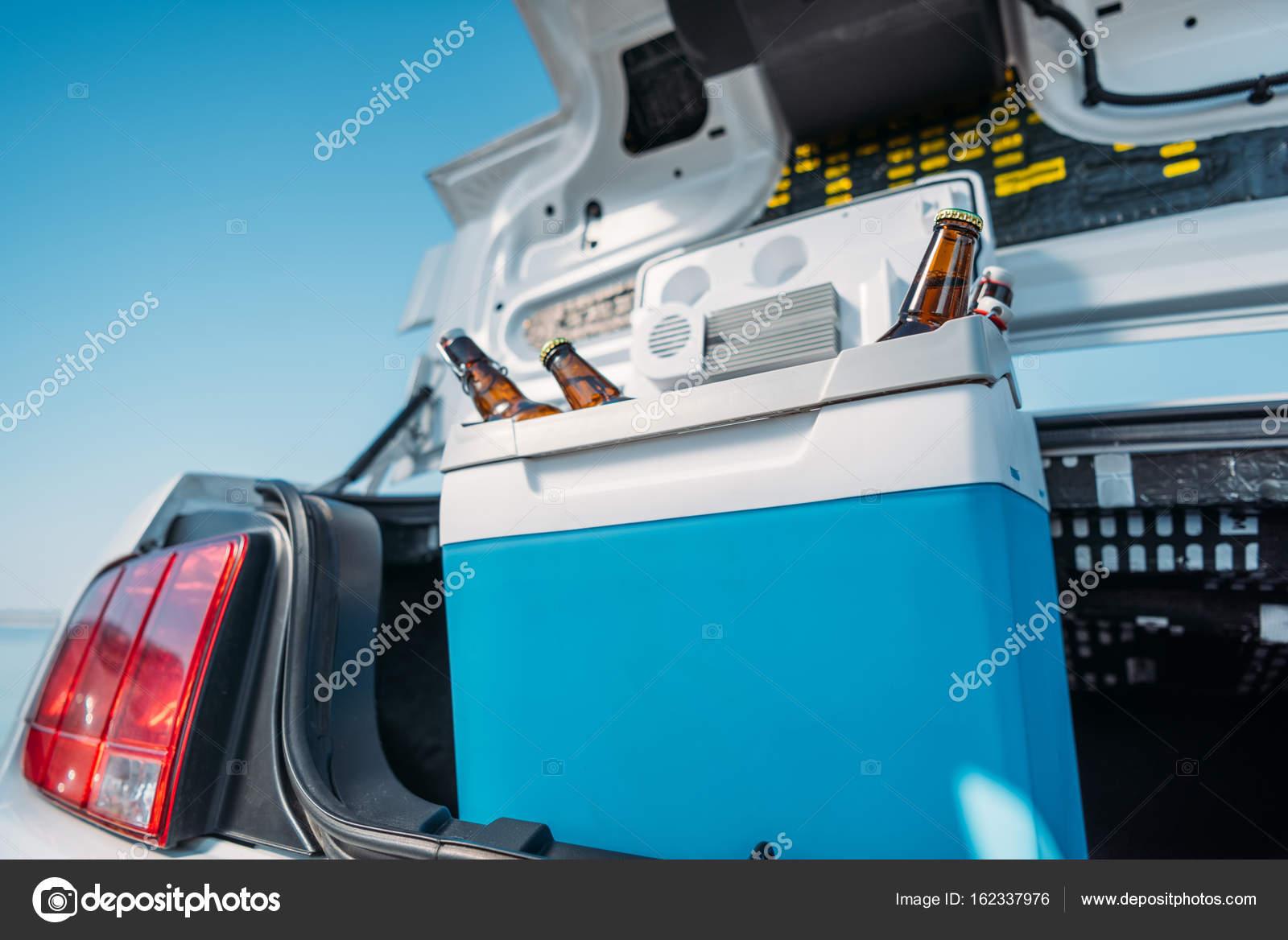 Kühlschrank Transport Auto : Tragbarer kühlschrank mit bier im auto u stockfoto