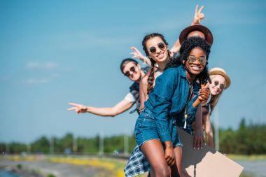 Multiethnic happy friends