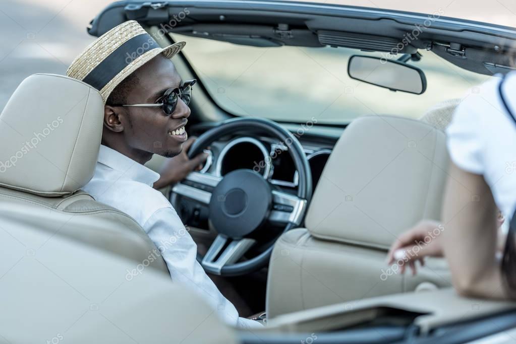 african american man in car