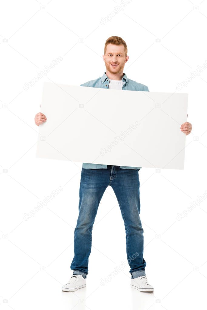 man with banner