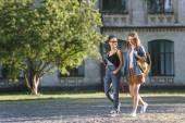 multikulturní studenti v parku