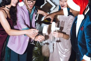 friends celebrating christmas
