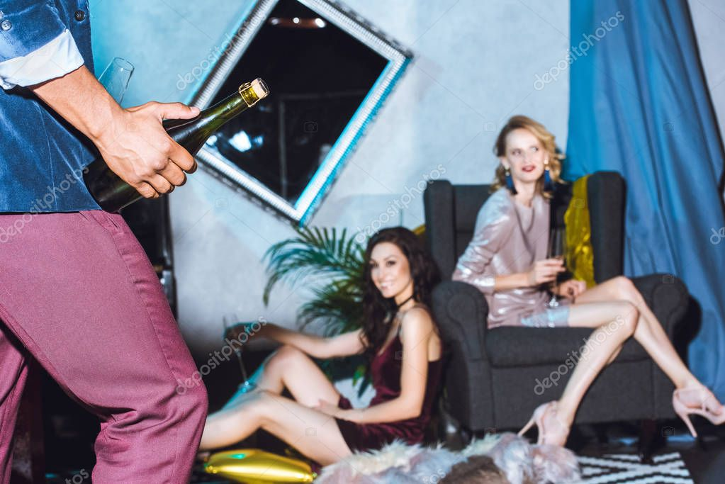 stylish women on party