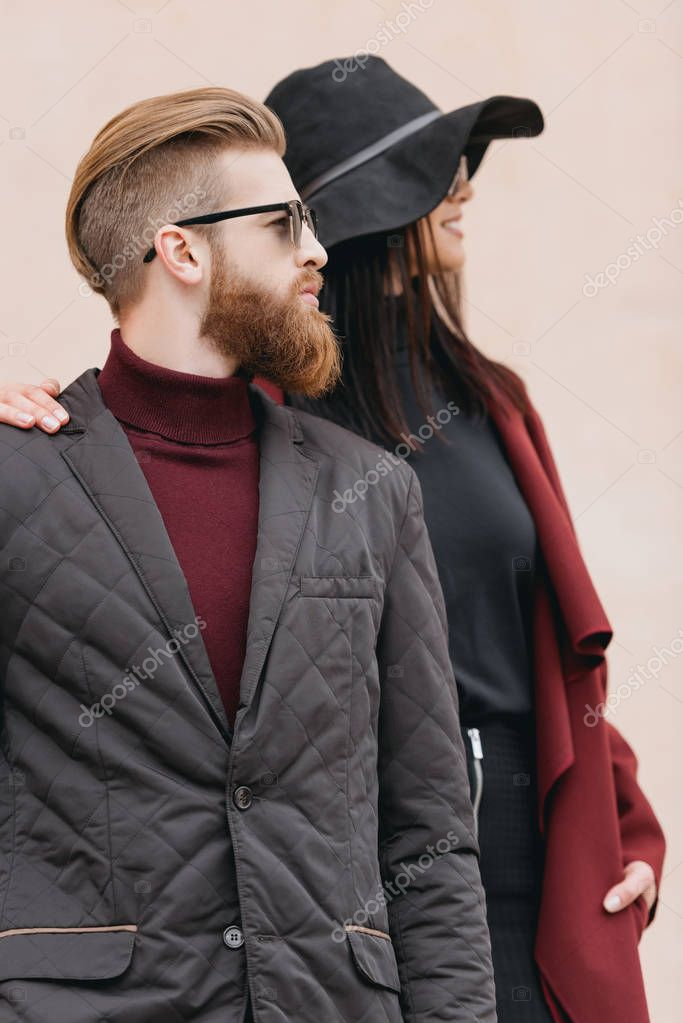 fashionable couple