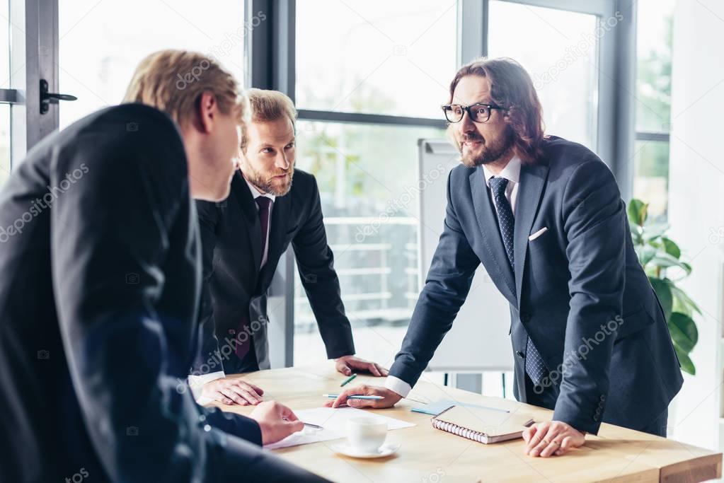 businessmen working in office