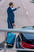 üzletember, a bőröndöt a üzleti út