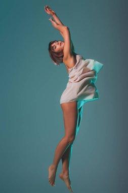 jumping tender girl