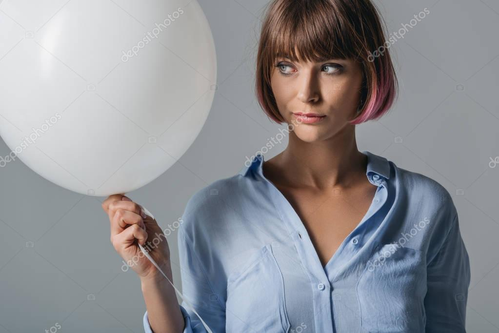 Girl with white balloon