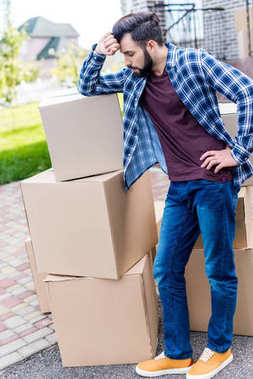 Man moving into new house