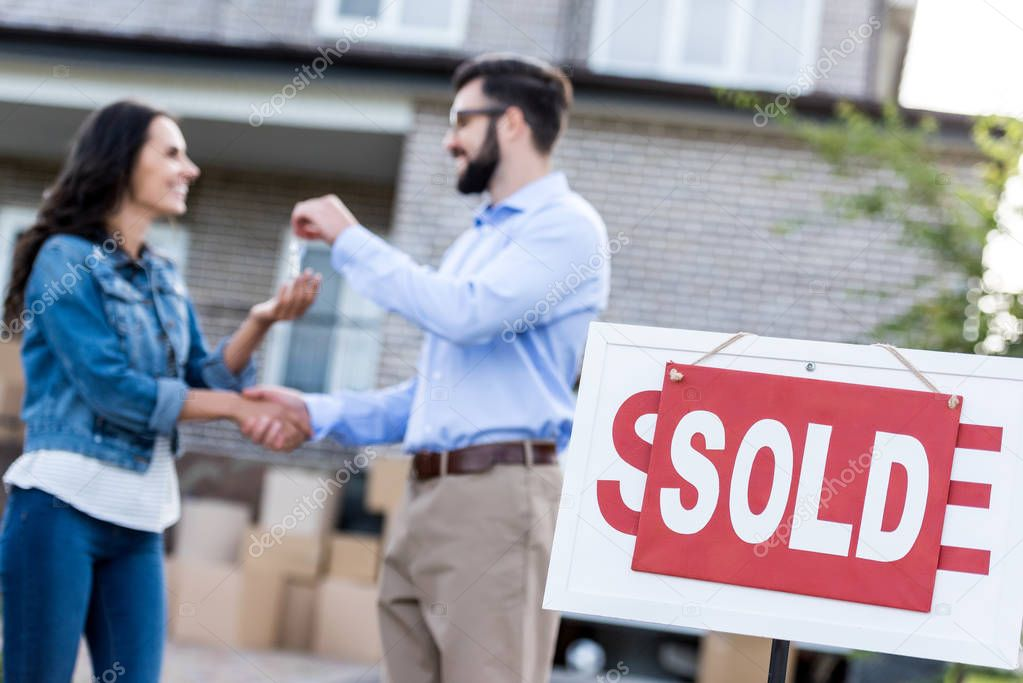 woman buying new house