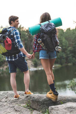 couple on hiking trip