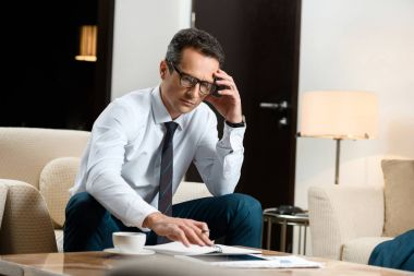 businessman working on paperwork