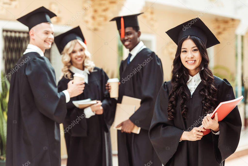 graduated multiethnic students