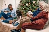 Fotografie mnohonárodnostní rodina na Vánoce