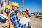 Stavební dělník zkušební plán budovy