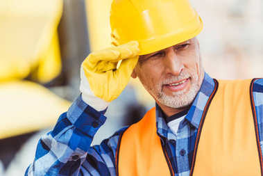 Construction worker in hardhat