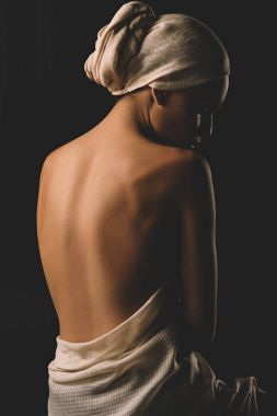 girl in white cloth and turban