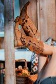 Fényképek hippi barna cipő női lábak