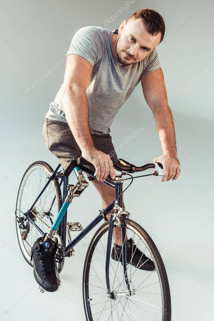 paralympic man on bicycle