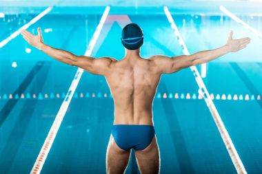 swimmer at swimming pool