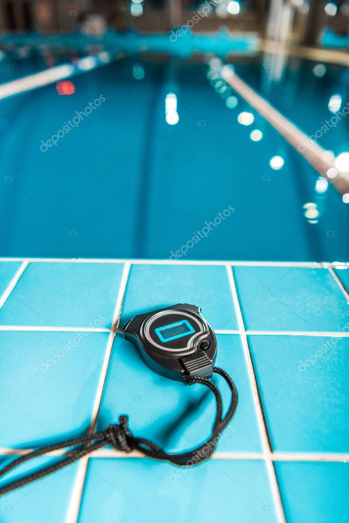stopwatch at swimming pool