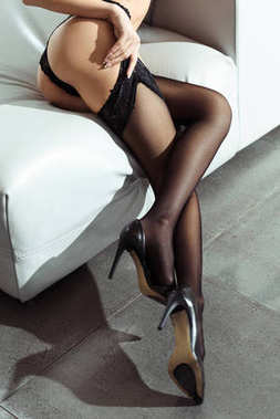 legs in black stockings