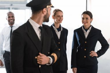 pilot and his team spending time in airport before flight