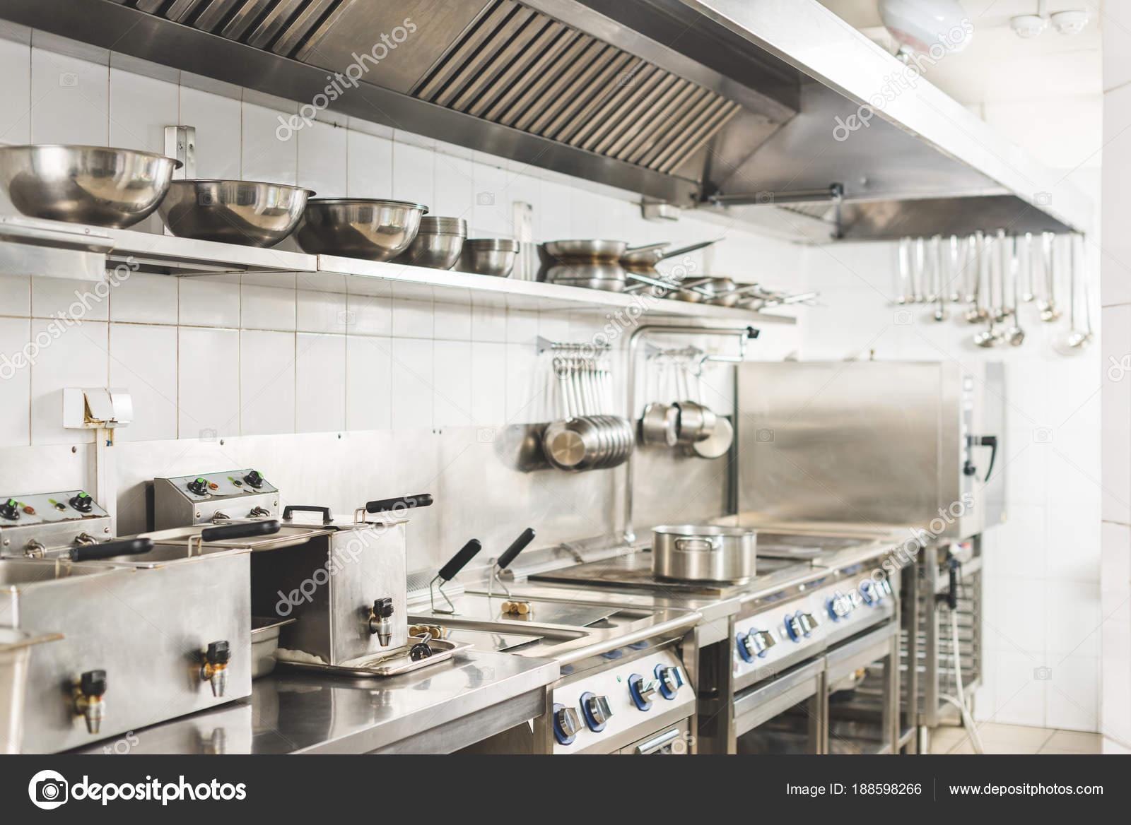 Interior Cozinha Restaurante Moderno Limpo Stock Photo
