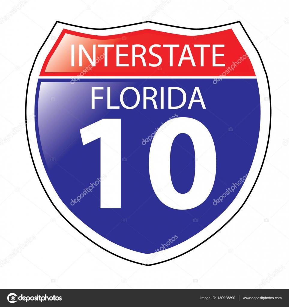 Interstate 10 sign