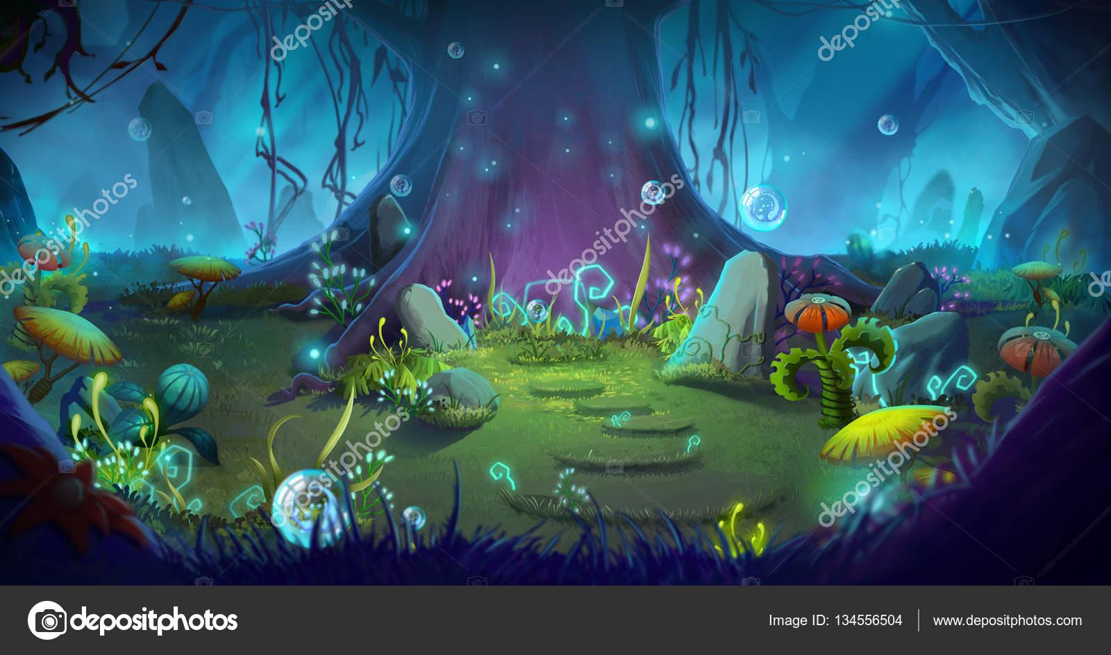 Forêt magique et fantastique — Photo