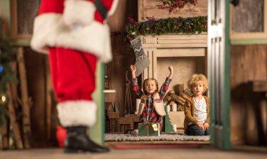 Children waiting for Santa Claus