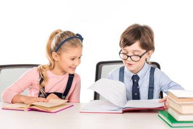 Classmates studying together