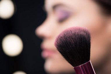Make-up brush with blusher