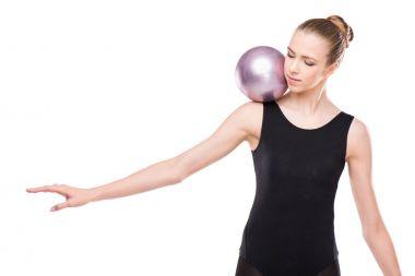 Rhythmic gymnast with ball