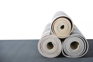 Grey yoga mats
