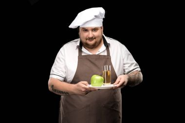Cooker with apple juice