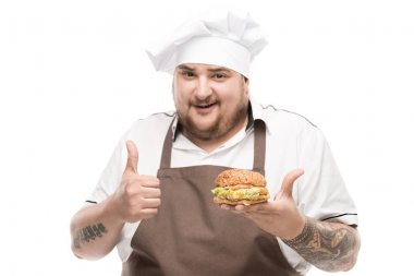 Cooker with tasty burger