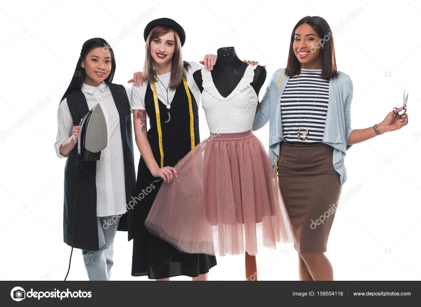 Young Fashion Designers With Dummy Stock Photo C Dmitrypoch 158554118