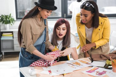 Fashion designers working on project