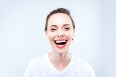 Attractive laughing woman