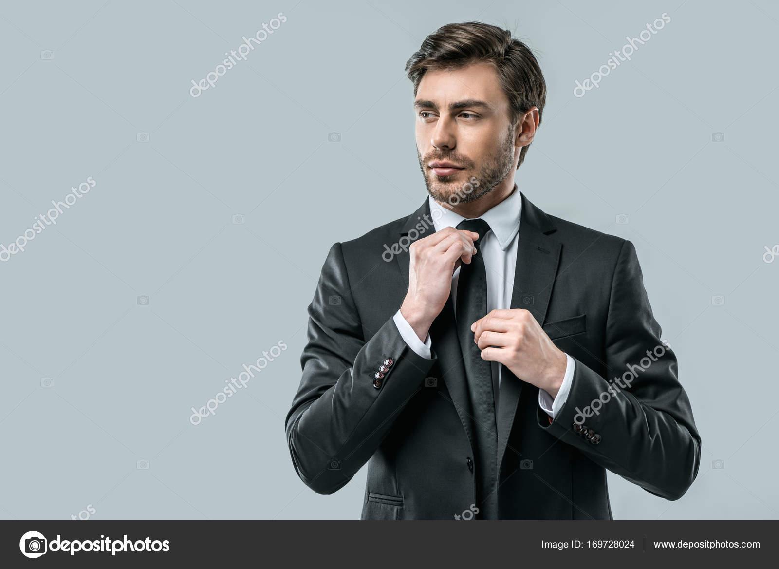 businessman in suit wearing tie — Stock Photo © DmitryPoch #169728024