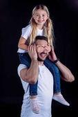 Fényképek apa és lánya, szórakozás