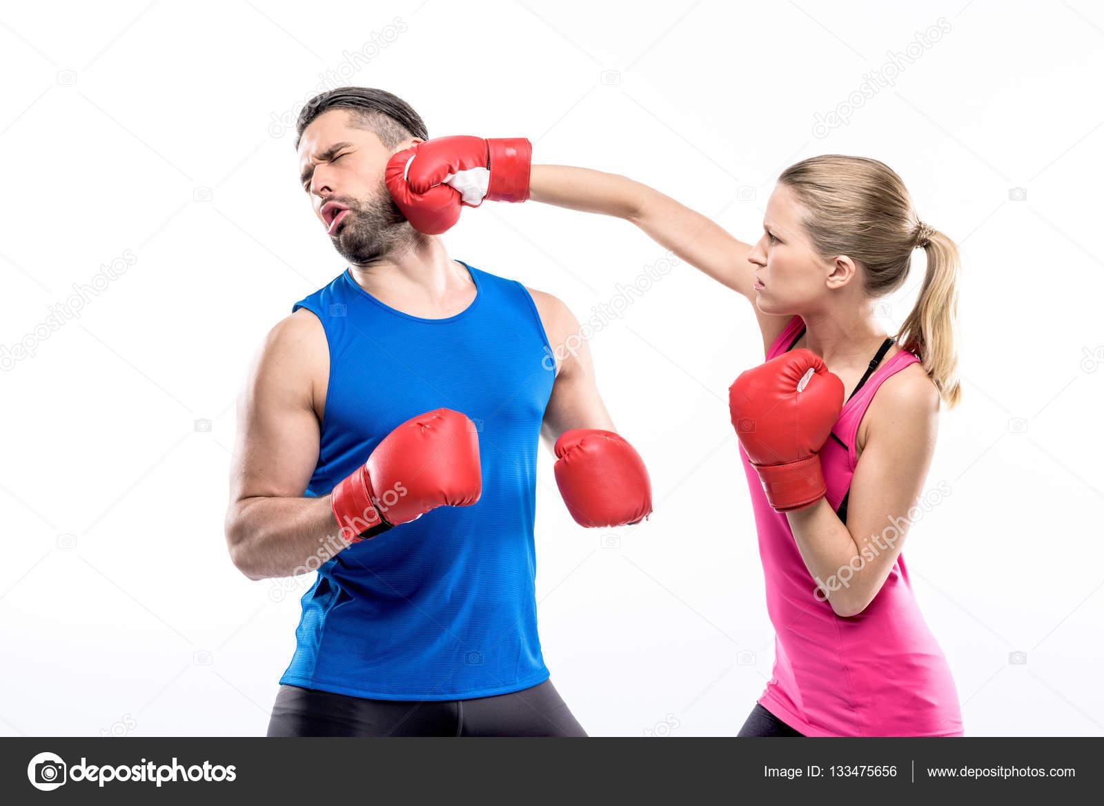 Women boxing men