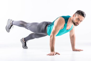 Man doing plank exercise