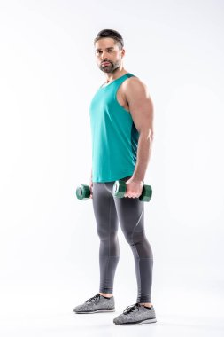 Man exercising with dumbbells