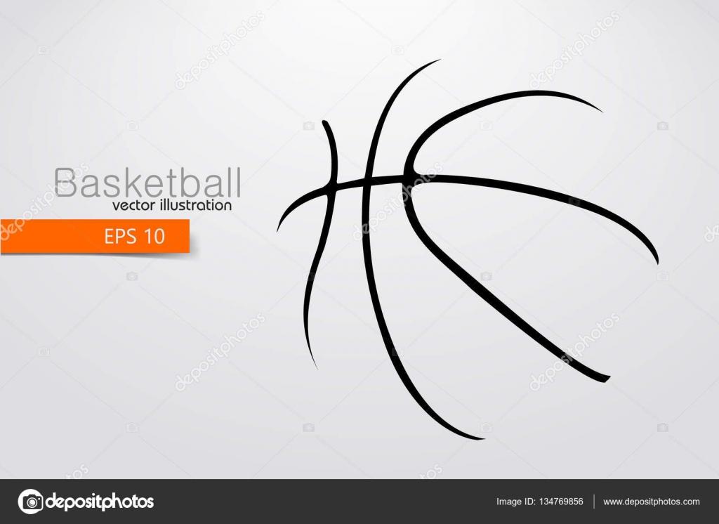 silueta de una pelota de baloncesto — Vector de stock © jmeka_m@ukr ...